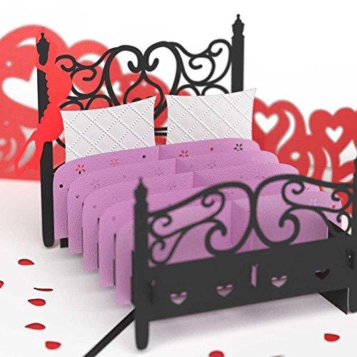 Paperkraft® Love Bed Pop Up Greeting Card