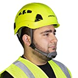 PPE By JORESTECH - ABS Work-At-Height and Rescue Hard Hat Slotted Ventilated Helmet w/Adjustable Ratchet 6-Point Suspension ANSI Z89.1-14 (Lime)