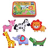 Forart Wooden Puzzles for Toddlers - 6 Pack - Baby Puzzles Age 3+ Toddlers Puzzles for Kids Boys and Girls - Pets Set