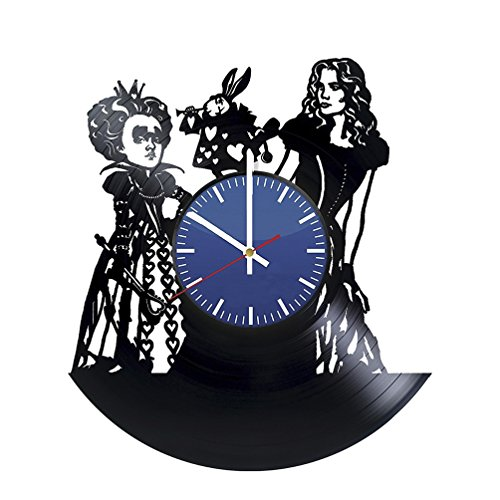 Movie Characters Wall Clock – Vinyl Record Wall Clock - Adventure Filn Wall Art Design – Cool Gift Idea For Children – Best Goods For Nursery ()