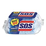 S.O.S. 91028CT Scrubber Sponges, All Surface, 3''x5-1/4'', 8PK/CT, Blue