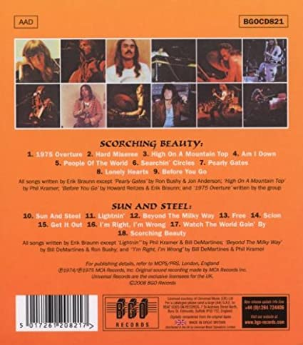 Scorching Beauty / Sun And Steel: Iron Butterfly: Amazon.es ...