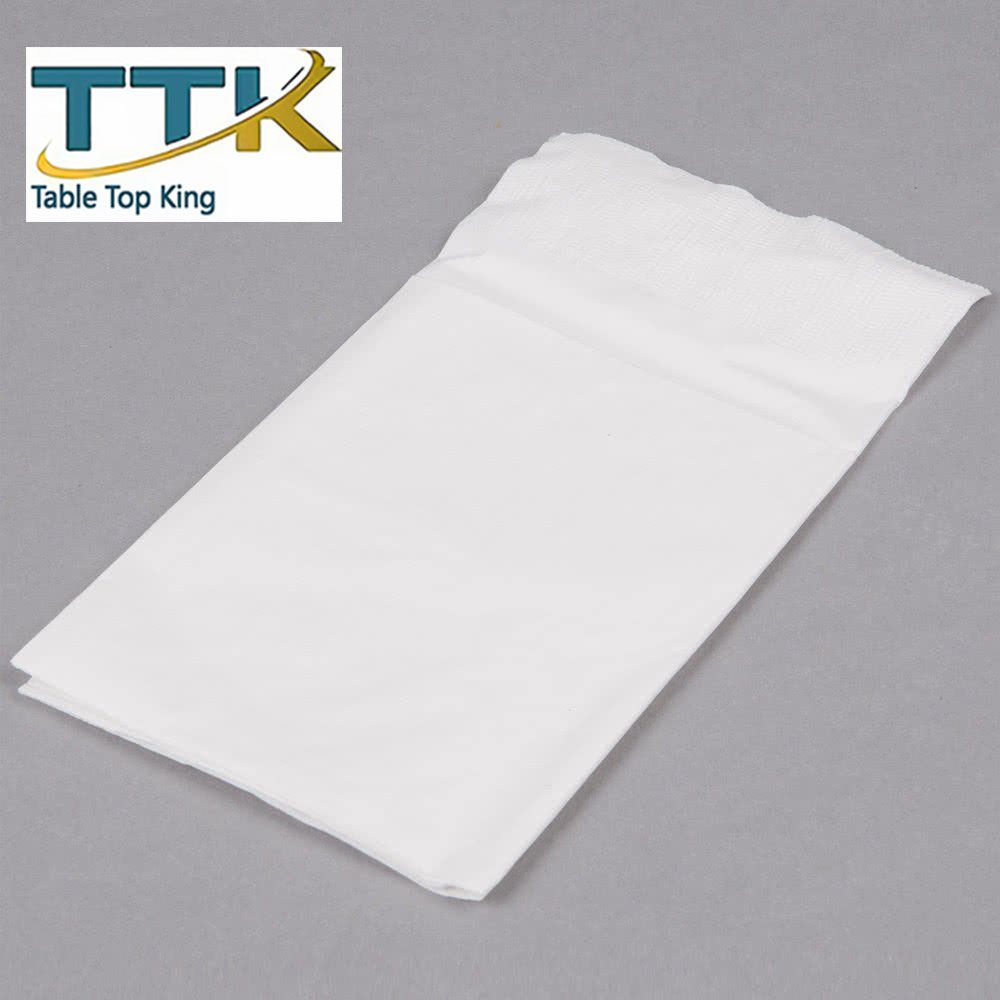 ReadyNap 15'' x 17'' White Pocket Fold Dinner Napkin - 800/Case by TableTop king