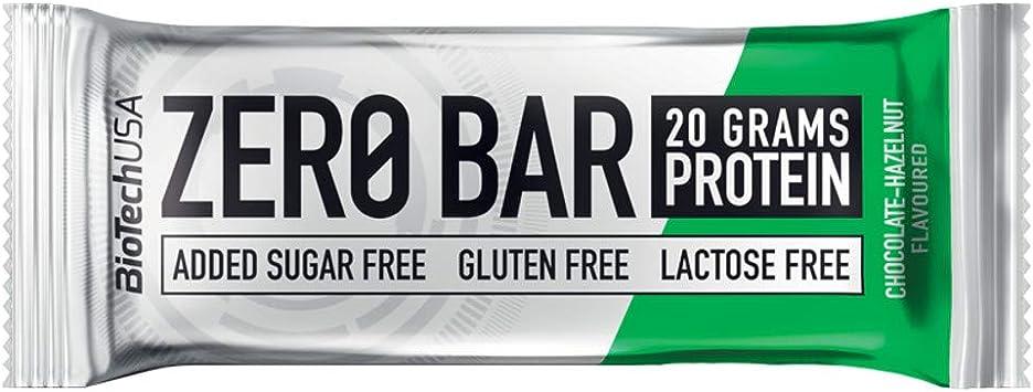 BioTech USA - Zero Bar, 10 x 50g Chocolate-Avellana: Amazon ...