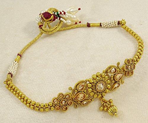 Goldtone Indian Traditional Upper Arm Bracelet Jewelry Cz Stone Armlet Jewellery Jewelry & Watches Engagement & Wedding