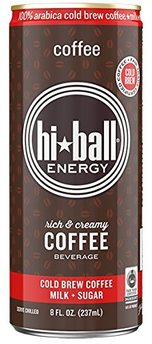 - Hiball Energy Cold Brew Coffee Beverage, Coffee, 8 Ounce, 12 Count