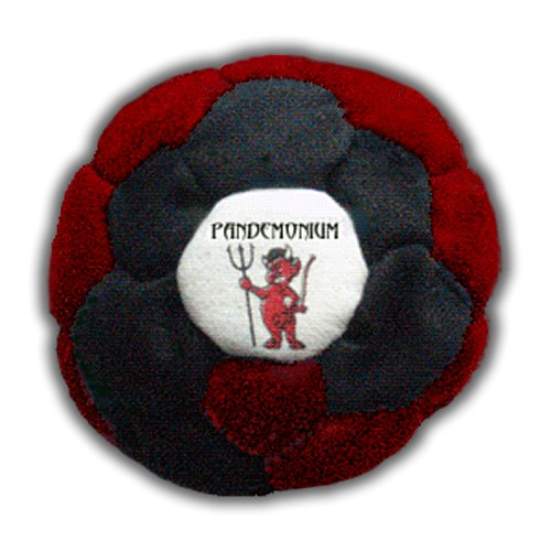 Pandemonium Footbag Footbag Vortex 32 Panels Hacky Sack Intermediate Bag Sand Filled Weighted At 2.1 Onces by Pandemonium Footbag