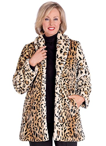 Animal Print Faux Fur Coat at Amazon Women's Coats Shop