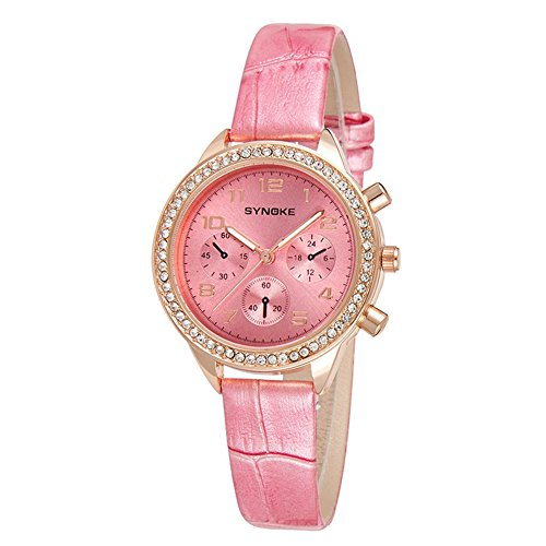 Price comparison product image Auspicious beginning Girl's Fashion Quartz Leather Watch Band Watch With Brick