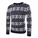 Corriee Fashion Tops for Men 2018 Autumn Winter Casual Print Knitted Pullover Sweater Slim Fitted Warm Outwear Blouse