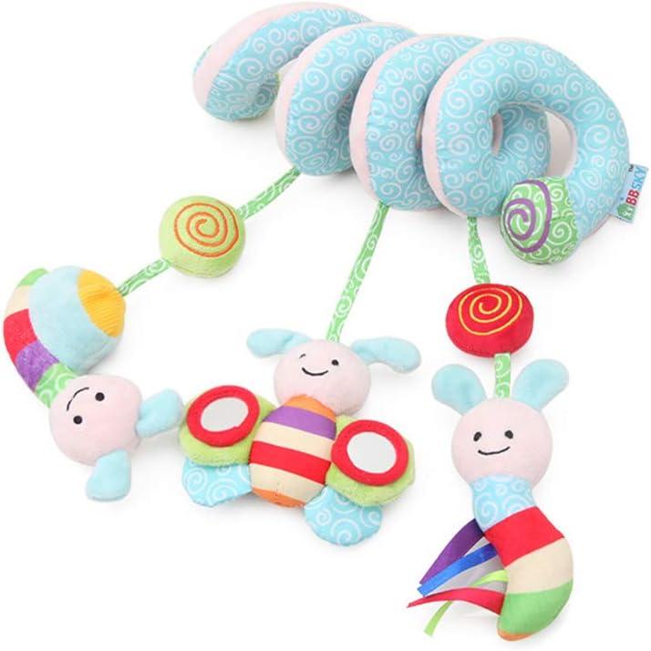 Toyvian Cama espiral bebé cochecito de juguete abeja cama de juguete de felpa alrededor para bebé educación juguete espiral envolver alrededor de cuna cama