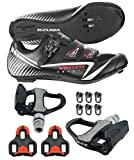 Venzo Road Bike Cycling Shoes Pedals Cleats for Shimano SPD SL Look Size 44