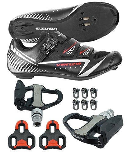 Venzo Road Bike Cycling Shoes Pedals Cleats For Shimano SPD SL Look Size 40