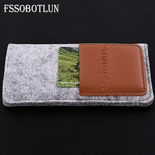 (FidgetGear for Galaxy S8/S8+/S7 Edge Phone Case Handmade Wool Felt Pocket Bag Light Grey for Galaxy S7)