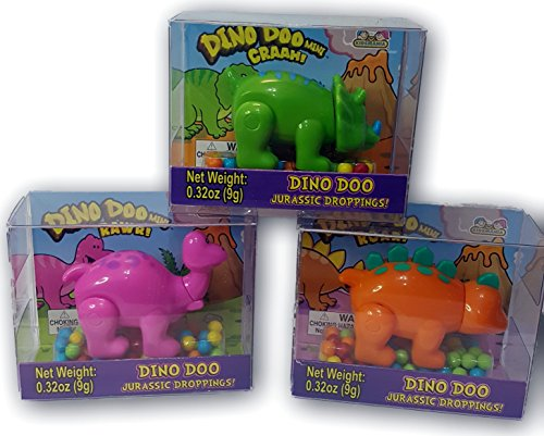 KIDSMANIA DINO DOO MINI CANDY DISPENSER SET OF 3