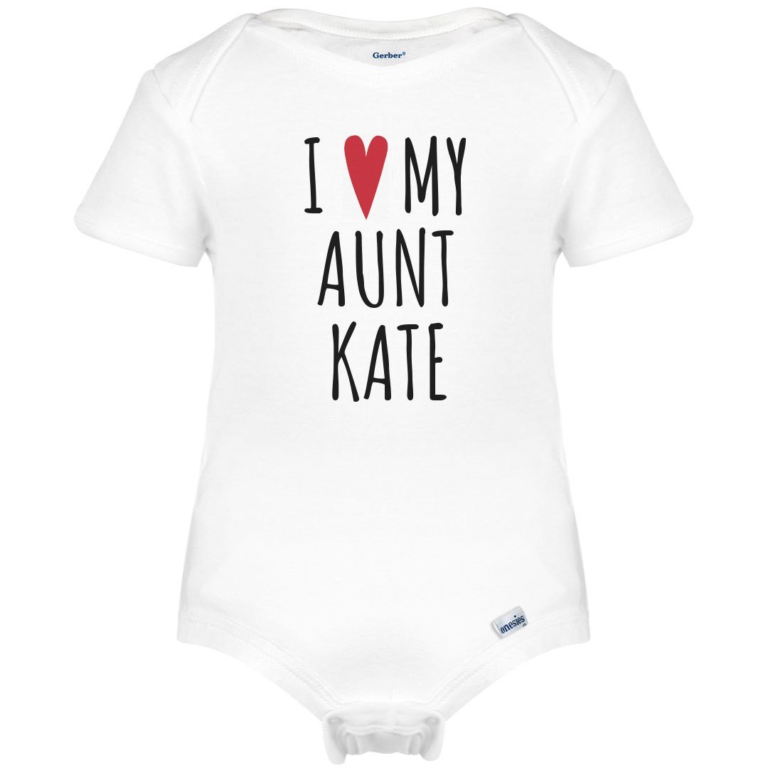 I Heart My Aunt Kate: Infant Gerber Onesies