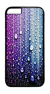Droplets mood 3 PC Case Cover for iphone 6 4.7inch - Black
