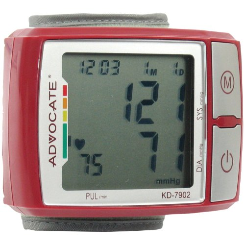 ADVOCATE KD-7902 Wrist Blood Pressure Monitor with Color Ind