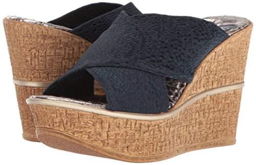 Love & Liberty Women's Ruth-LL Wedge Sandal, Navy, 7 M US by Love & Liberty (Image #6)