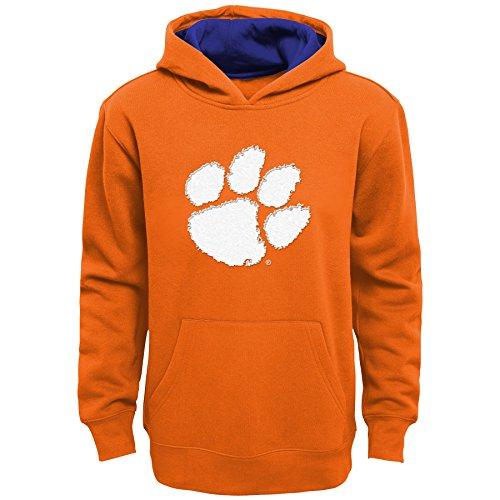 son Tigers Kids & Youth Boys Prime Fleece Pullover Hoodie, Orange, Kids Medium(5-6) (Clemson Youth Fleece Pullover)
