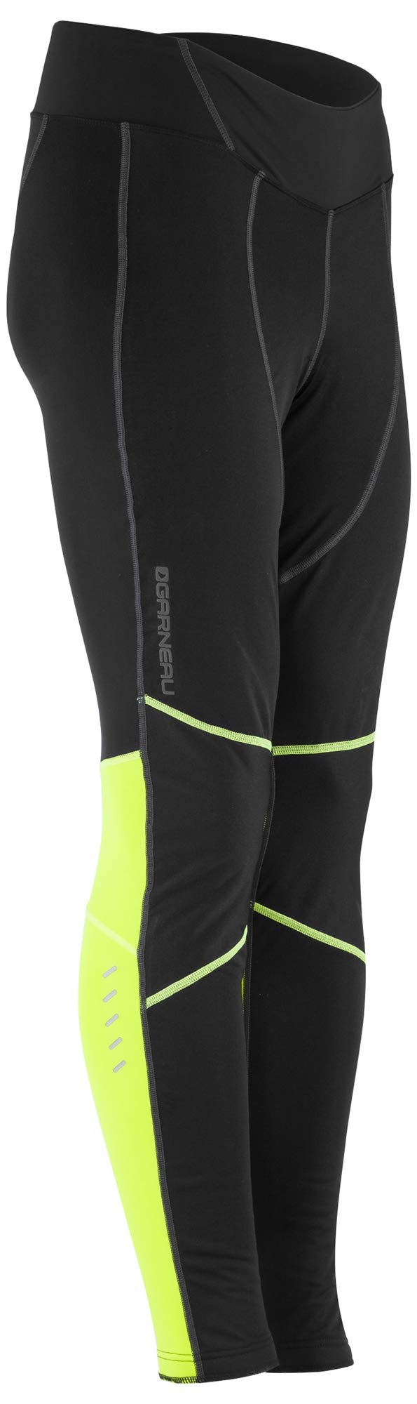 Louis Garneau Women's Solano 2 Breathable, Thermal Cycling Tights with Padded Chamois, Black/Yellow, X-Small by Louis Garneau