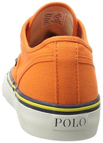 Polo Ralph Lauren Mens Morray Nylon Fashion Sneaker Arancione Brillante