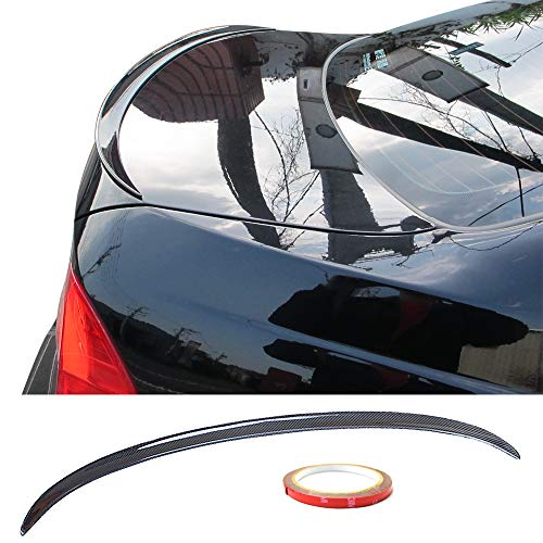 - Trunk Spoiler Fits 2005-2011 BMW 3-Series E90 | M3 Style Carbon Fiber Trunk Boot Lid Deck Lip Spoiler Wing By IKON MOTORSPORTS | 2006 2007 2008 2009 2010
