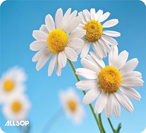 Allsop Nature's Smart 30868 - Alfombrilla para mouse (60% contenido reciclado), diseño de muelle, Daisy, Margarita, 9' x 10'