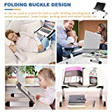 Shellkingdom Book Stand,Adjustable Book Holder with Page Paper Clips for Textbooks/Music Books/Laptop/Cook Recipe- Foldable Aluminum Reading Holder