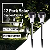 Solar Lights Outdoor, 12Pack Outdoor Lig...