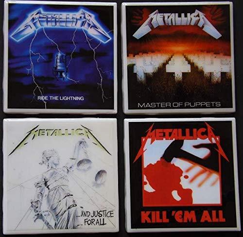 (Set of four Metallica Album Art Ceramic Coasters)