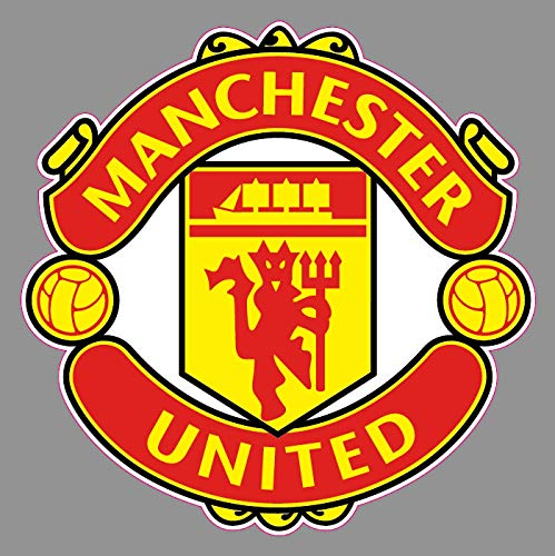 Crazy Discount Manchester United Football Soccer Logo Vinyl Sticker Decal Outside Inside Using for Laptops Water Bottles Cars Trucks Bumpers Walls, 6