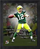 Aaron Rodgers Green Bay Packers ProQuotes Photo (Size: 12'' x 15'') Framed