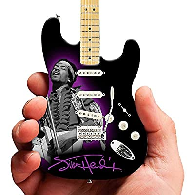 Axe Heaven JH-802 Jimi Hendrix Photo Tribute Fender Stratocaster Miniature Guitar Replica Collectible from Hal Leonard Music Accessories