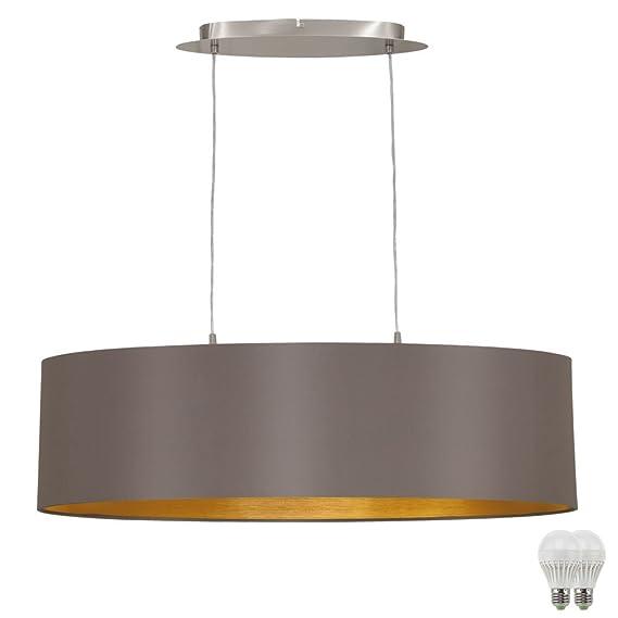 Decken Pendel Strahler Leuchte Gäste Zimmer Beleuchtung Hänge Lampe MATT GOLD