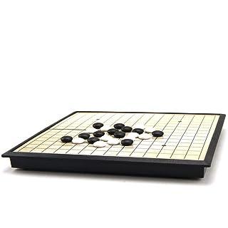 Dfghbn Set di Giochi magnetici Go Game Set (19x19) - Convenienti Single Single convessi con Pietre magnetiche - Travel-Ready (Colore, Dimensione : 19 * 19 cm)