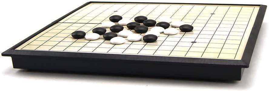 Colección de juegos Juego de juego Go Juego de juego magnético Go (19x19) - Convenientes piedras magnéticas convexas individuales - Preparado para viajar Diseño de tabla plegable portátil para niños y: Amazon.es: