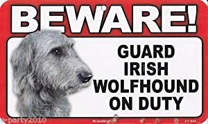 Amazon.com : BEWARE Guard Dog on Duty Sign  Airedale Terrier : Yard Signs : Garden  Outdoor