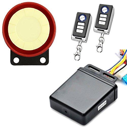 Sistema de seguridad de alarma antirrobo para motocicleta Jtron con mando a distancia, para arranque de moto, antihielo,...