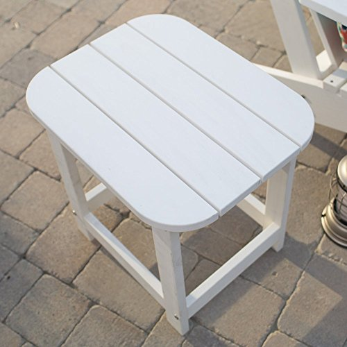 Seacrest Cottage All Weather Outdoor Resin Rectangular Side Table 19L (Cottage Wicker Furniture)