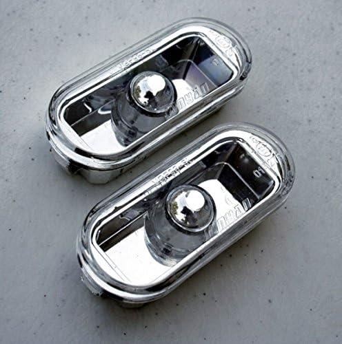 Seitenblinker Klar Chrom Oval Links Rechts Set E Prüfzeichen Eintragungsfrei Auto