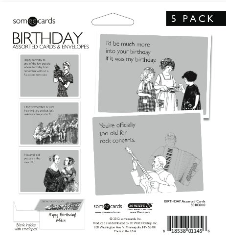Someecards Assorted Birthday Greeting Cards Pack Of 5 Office