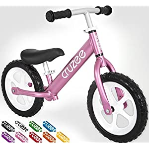 Cruzee UltraLite Balance Bike (4.4 lbs) for Ages 1.5 to 5 Years | Best Sport Push Bicycle for 2, 3 & 4 Year Old Boys & Girls– Toddlers & Kids Skip Tricycles on the Lightest First Bike 1 – Pink
