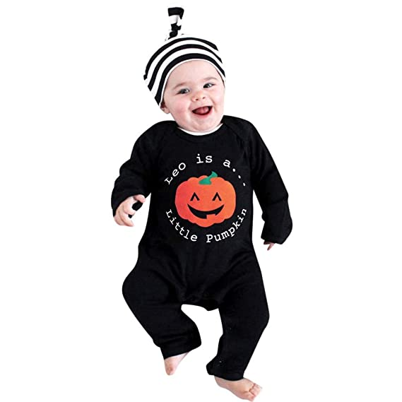 Baiomawzh Disfraz de Halloween Ropa Bebe Niña Niño Mameluco ...