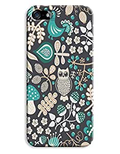 Dark Green Owls Case for your iPhone 5/5S