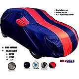 Andride Fabric Triple Stiched, Mirror Pocket Car Body Cover for Maruti Alto 800 (Red/Blue)