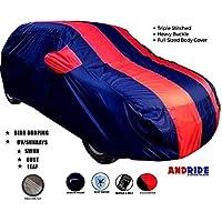Andride Fabric Triple Stiched, Mirror Pocket Car Body Cover for Maruti Alto K10 (Red/Blue)