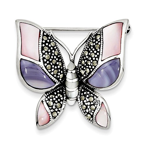 Mother Of Pearl Butterfly Pin - 6