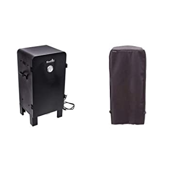 Char-Broil Analog Electric Smoker with Char-Broil Performance Smoker Cover, Kettle Grill