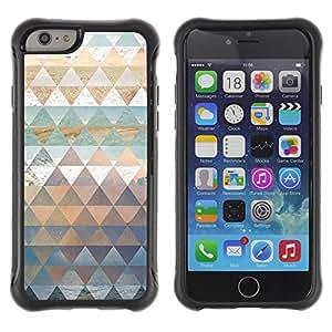 Suave TPU GEL Carcasa Funda Silicona Blando Estuche Caso de protección (para) Apple Iphone 6 PLUS 5.5 / CECELL Phone case / / Polygon Nature Art Pattern Snow Sea Sky /